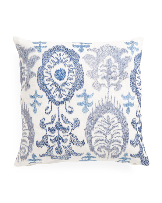 Made in india 20x20 embroidered pillow living room t j for 20x20 living room