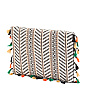 Raffia Fold Over Clutch With Fringe