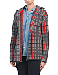 Made In Italy Wool Blend Plaid Cardigan
