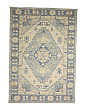 Wool Blend Boho Look Medallion Area Rug