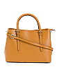 Made In Italy Saffiano Double Handle Leather Tote