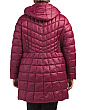 Plus Glossy Nylon Puffer Coat