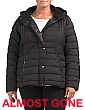 Plus Micro Fiber Hooded Puffer Coat