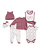 Newborn Girls 6pc Cardigan Set