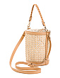 Natural Caning Rattan Bucket Bag
