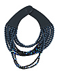 Handmade In Italy Leather Alba Beaded Multi Row Necklace