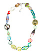 Made In Italy Murano Glass Gold Plated Brass Necklace