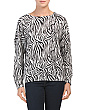 Animal Print Dolman Sleeve Sweater