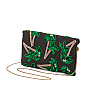 Tropica Palm Trees Beaded Clutch