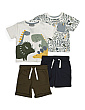 Toddler Boys 4pc Dino Short Set