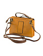 Made In Italy Leather Front Flap Pocket Crossbody