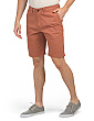 Flat Front Stretch Twill Shorts
