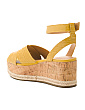 Croco Wedge Espadrille Sandals