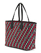 Made In Italy Logo Pattern Jacquard Tote