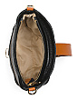 Made In Italy Leather Buckle Front Crossbody