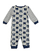 Newborn Boys 3pc Coverall Sock & Hat Set