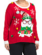Plus Grumpy Cat Christmas Sweater
