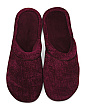 Shimmer Chenille Knit Slippers With Satin Binding