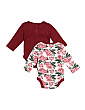 Newborn Girls 2pk Bodysuit