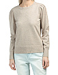 Puff Shoulder Crew Neck Pullover Sweater