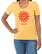 Cool V-neck Shine On Sun Tee
