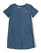 Big Girl Chambray Dress With Striping