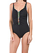 Mad Dash Zipper One-piece Swimsuit