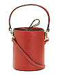 Leather Brenna Python Cylinder Crossbody