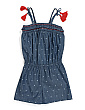Big Girls Denim Romper