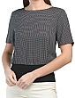 Ribbed Waistband Silk Top