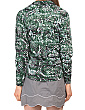 Upf 50 Recycled Fibers Printed Quarter Zip Top