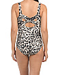 Petite Tummy Control Animal Print One-piece Swimsuit