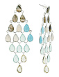 Made In India Sterling Silver Gemstone Fishtail Earrings