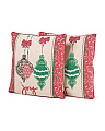 Set Of 2 18x18 Ornament Pillows
