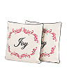 Set Of 2 18x18 Joy Pillows