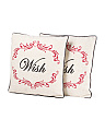 Set Of 2 18x18 Wish Pillows