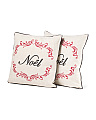 Set Of 2 18x18 Noel Pillows