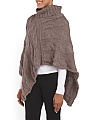Made In Italy Cable Poncho