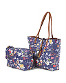 Reversible Floral Tote