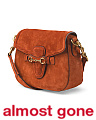 Made In Italy Lady Web Suede Crossbody