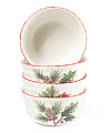 Set Of 4 Cardinal Tree Cereal Bowls