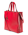 Made In Italy Leather North South Tote