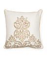 Made In India 16x16 Sequin Damask Pillow