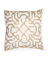 Made In India 18x18 Geometric Sequin Pillow