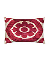 23x15 Silk Velvet Flower Pillow