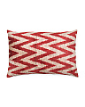 23x15 Silk Velvet Chevron Pillow