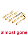Gold Plated Leopardo 20pc Flatware Set