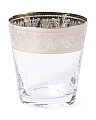 Heirloom Platinum Double Old Fashion Glass