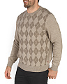 Textured Argyle Sweater