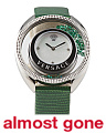 Women's Swiss Made Diamond Marker Floating Green Topaz Watch